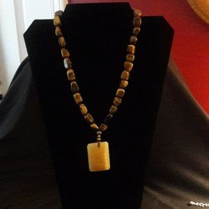 Jewelry - Tiger's Eye & Yellow Jasper Necklace -NWOT!